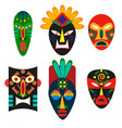 traditional mask of african tribes religious mask vector image vector image