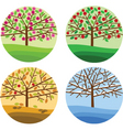 trees and seasons vector image vector image