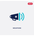two color megaphone icon from american football vector image