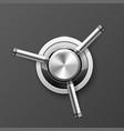 vault safe door - wheel with three handles of vector image vector image