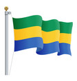 waving gabon flag isolated on a white background vector image