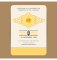 wedding invitation with yellow element vector image vector image