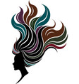 women silhouette icon on white vector image