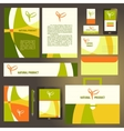 Corporate identity template set Natural product vector image