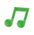 Isolated music note vector image