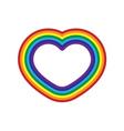 Rainbow icon heart flat design isolated vector image
