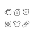 Home set icons vector image