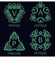 Set of Monochrome Monogram Design Templates vector image