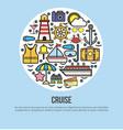 sea cruise travel or summer ocean vacation vector image