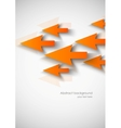 Abstract background with orange arrows vector image vector image
