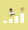 african businessman climbing ladder to success vector image vector image