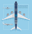 aircraft seats plan top view business and economy vector image vector image