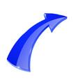arrow blue shiny web icon vector image vector image