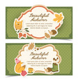 autumn conceptual banners set vector image vector image