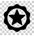award star seal icon vector image