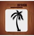 beach concept design vector image vector image