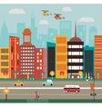 Big City street vector image vector image