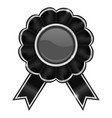black award badge vector image