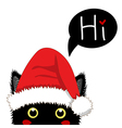 Black Cat Sneaking Christmas Day vector image vector image