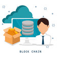 block chain tecnology concept vector image