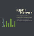 business infographic concept with graph vector image vector image