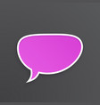 comic speech bubble for talk crooked at oval shape vector image