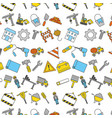 construction tools pattern background vector image vector image