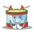 devil toy drum character cartoon vector image vector image