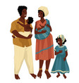 family mother and father with children vector image vector image