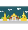 Flat design landscape of Thailand temple vector image vector image