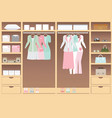 flat design walk in closet vector image vector image