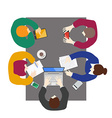 Flat style office workers business management vector image vector image