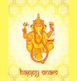 Ganesha postcard vector image vector image