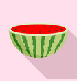 half of watermelon icon flat style vector image