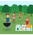 Happy family picnic vector image vector image