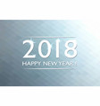 happy new 2018 year background christmas card vector image vector image