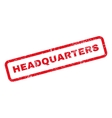 Headquarters Text Rubber Stamp