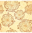 Henna colors flowers seamless pattern vector image