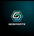 logo e sport and sport style vector image