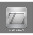 Metal app button with glass surface vector image vector image