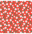 Millefleur small red dense seamless pattern vector image