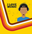 music lifestyle design vector image