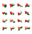 oman flag on a white vector image vector image