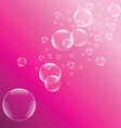 Pink bubble background vector image vector image