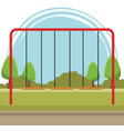 playground swing playground cartoon vector image vector image