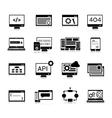 Programming Icons Black vector image vector image