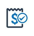 receipt icon vector image vector image