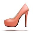 Red vintage high heels pump shoes vector image