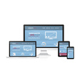 Responsive web desing on different devices vector image vector image