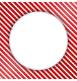 Round Banner on Striped Background vector image vector image